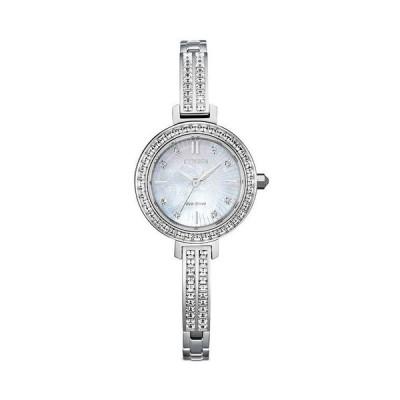 シチズン レディース 腕時計 アクセサリー Eco Drive Silhouette Crystal Watch 25mm