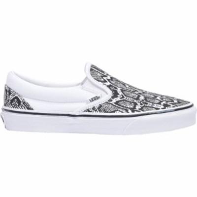 ヴァンズ Vans レディース スケートボード スリッポン シューズ・靴 classic slip on White/True White Python