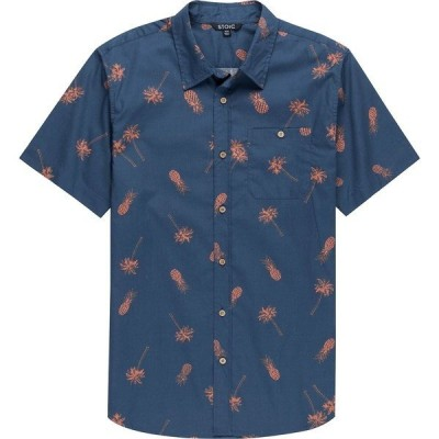 ストイック シャツ メンズ トップス Palm Leaf Print Short-Sleeve Button-Down Shirt - Men's Multi