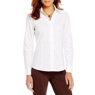 インベストメンツ レディース シャツ トップス Petites Christine Gold Label Non-Iron Long Sleeve Button Front Shirt