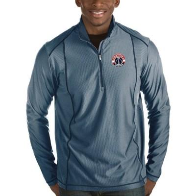 """メンズ ジャケット """"Washington Wizards"""" Antigua Tempo Half-Zip Pullover Jacket - Navy"""