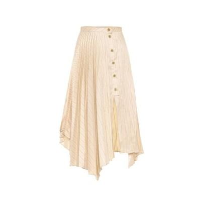 アクネ ストゥディオズ Acne Studios レディース スカート striped high-rise skirt Cream Beige