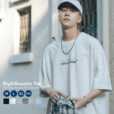 Tシャツ メンズ 半袖 オーバーサイズ ビッグシルエット 英字プリント ブランド おしゃれ 韓国 ファッション ストリート系 服 夏