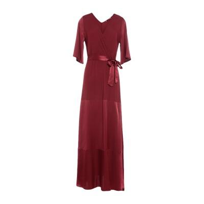 PAOLO CASALINI ロングワンピース&ドレス ボルドー S レーヨン 100% ロングワンピース&ドレス