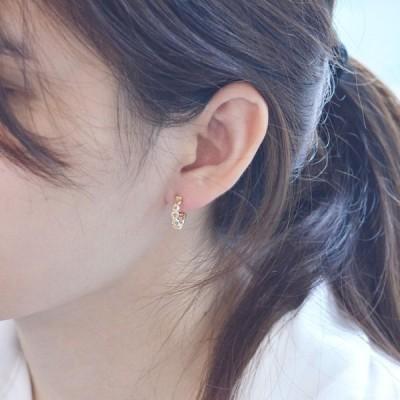 即納 イヤーカフ 18金 k18 18k ゴールド レディース 圧調整可能 片耳用 シンプル フープ 中折れ 日本製 刻印入り