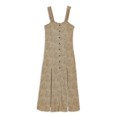 トップショップ TOPSHOP ロングワンピース&ドレス キャメル 6 レーヨン 100% ロングワンピース&ドレス