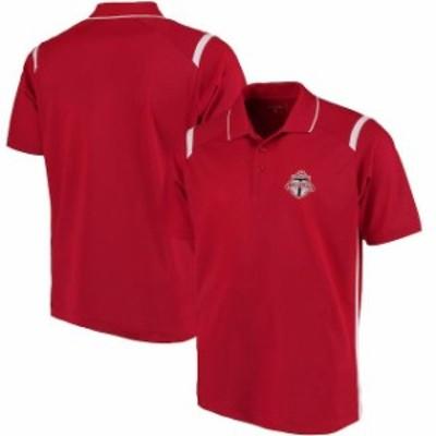 Antigua アンティグア スポーツ用品  Antigua Toronto FC Red/White Merit Polo