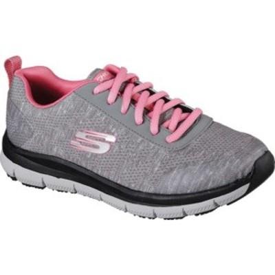 スケッチャーズ レディース スニーカー シューズ Work Relaxed Fit Comfort Flex Pro HC SR Sneaker Gray/Pink