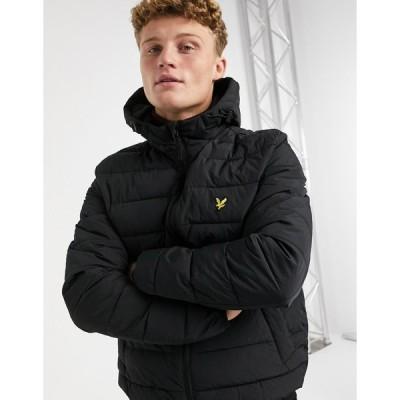 ライルアンドスコット ジャケット メンズ Lyle & Scott lightweight puffer jacket in black エイソス ASOS ブラック 黒