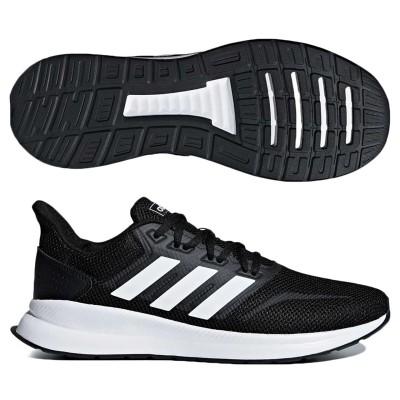 アディダス (adidas) FALCONRUN M(コアブラック×ランニングホワイト) F36199 [分類:ランニング ランニングシューズ (メンズ)]