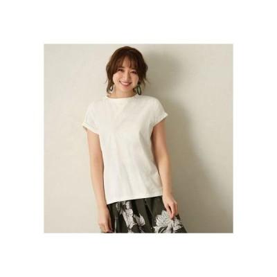 ジーラ GeeRA 綿100%フレンチスリーブTシャツ (オフホワイト)