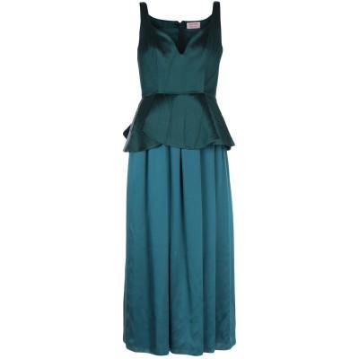 ランバン LANVIN ロングワンピース&ドレス ダークグリーン 38 シルク 100% / ウール / アクリル ロングワンピース&ドレス