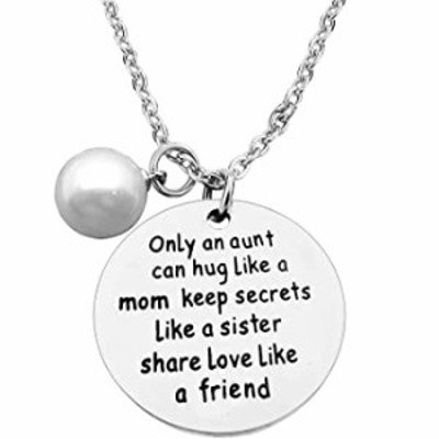 Aunt Necklace Gifts for Women Aunties Only an Aunt Can Hug Like A Mom Keep Secrets Like A Sister Necklace Pendant Christmas Birt
