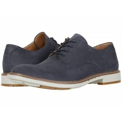 Clarks クラークス メンズ 男性用 シューズ 靴 オックスフォード 紳士靴 通勤靴 Un Elott Lace Navy Nubuck【送料無料】