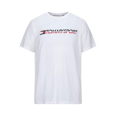 YOOX - トミーヒルフィガー TOMMY HILFIGER T シャツ ホワイト M コットン 61% / ポリエステル 39% T シャツ
