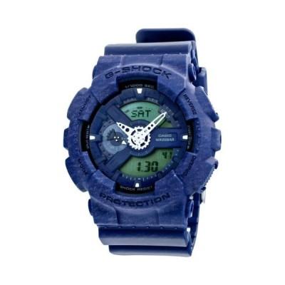 腕時計 カシオ Casio G-Shock アナログ デジタル ブルー Heather パターン レジン メンズ 腕時計 GA110HT-2A