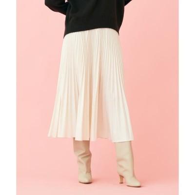 【MACPHEE】タイプライタープリーツ ミディスカート