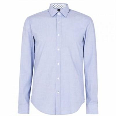 ヒューゴ ボス Boss メンズ シャツ トップス Ronni Shirt Dark Blue