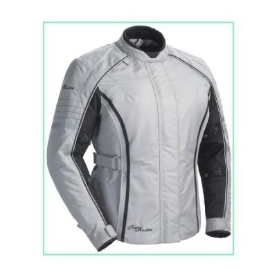 ツアーマスターTrinityシリーズ3?Women 's Textileスポーツバイクレースオートバイジャケット???シルバー/ Large【
