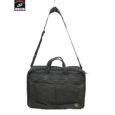 PORTER 2WAY BRIEF CASE/BLACK ポーター [▼]