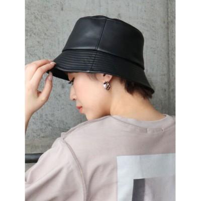 MURUA / ヴィーガンレザーバケットハット WOMEN 帽子 > ハット