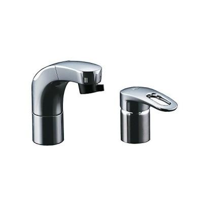 LIXIL(リクシル) INAX ホース引出式シングルレバー混合水栓 エコハンドル フルメッキタイプ エコハンドル 小型吐