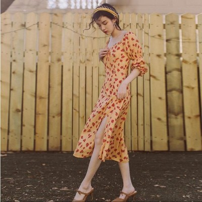 カジュアル ファッション 個性的 派手 衣装 Aライン ワンピース 袖付き ミモレ レディース ひざ丈 キレイめ 大人 可愛い ゆったり