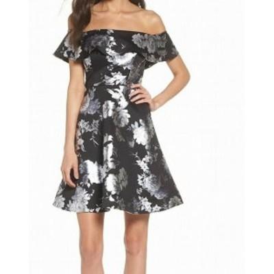 Sequin  ファッション ドレス Sequin Hearts NEW Black Size 5 Junior Floral A-Line Sheath Dress