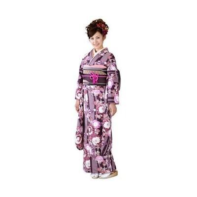 [京都室町st.] 成人式 振袖 HLブランドのレディース着物 お晴れ着に成人式の振袖 お晴れ着に「紫系、ぼたん菊」