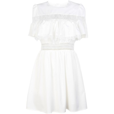 JOVONNA ミニワンピース&ドレス ホワイト 14 ポリエステル 100% ミニワンピース&ドレス