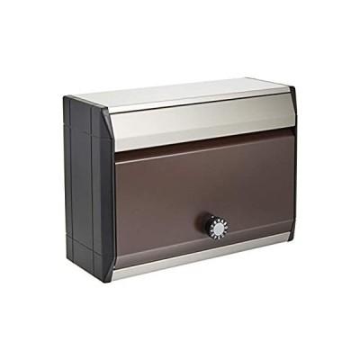 ナスタ(NASTA) 住宅用 郵便ポスト 防滴タイプ 静音大型ダイヤル錠 ボンメール レインボー KS-MB34S-L-BB ビターブラウン