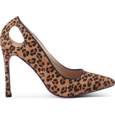 ノーズ Nose レディース パンプス シューズ・靴 Suede / Animal Print Heel Pumps Brown