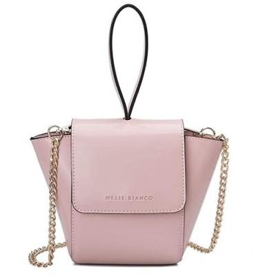 Melie Bianco Adele Vegan レザー リング Wristlet Crossbody Bag, Blush(海外取寄せ品)