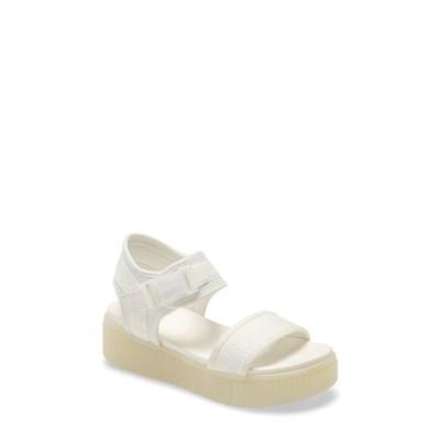 ミア サンダル シューズ レディース Jacey Sport Sandal White Fabric