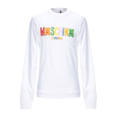 モスキーノ MOSCHINO スウェットシャツ ホワイト XS コットン 100% スウェットシャツ
