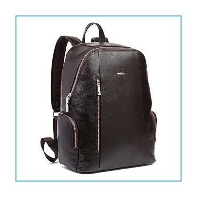 BOSTANTEN Leather Backpack College Laptop Travel Camping Shoulder Bag Gym Sports Bags for Men Coffee並行輸入品