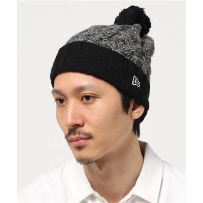 帽子屋ONSPOTZ / ニューエラ ニット帽 ポンポン WOOL BLEND LOW GAUGE BIG CABLE  NEW ERA MEN 帽子 > ニットキャップ/ビーニー