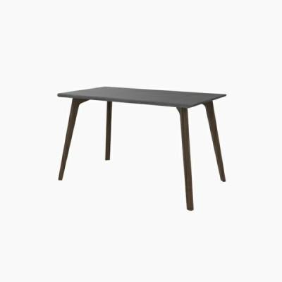 送料無料 ダイニングテーブル (W1200 天板:ミッドグレー 脚:ウォールナット) - CROSS