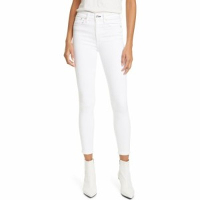ラグandボーン RAG and BONE レディース ジーンズ・デニム スキニー ボトムス・パンツ Nina High Waist Ankle Skinny Jeans White