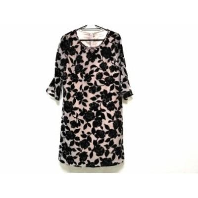 ローズティアラ Rose Tiara ワンピース サイズS レディース 美品 - ピンクベージュ×ボルドー【中古】20200829