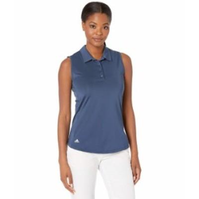 アディダス レディース シャツ トップス Ultimate365 Primegreen Sleeveless Polo Shirt Navy