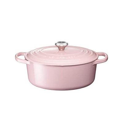 ル・クルーゼ(Le Creuset)  鋳物 ホーロー 鍋 シグニチャー ココット・オーバル 25 cm シフォンピンク ガス IH オーブン 対応