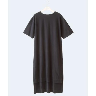 【大きいサイズ】 シックスタイル 綿100%半袖バックロングチュニックTシャツ plus size tops,