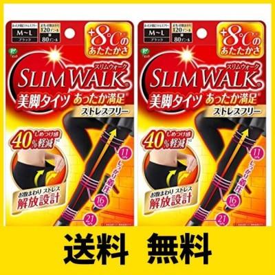 【2個セット】 スリムウォーク (SLIM WALK) 美脚タイツ あったか満足 おそと用 M~Lサイズ