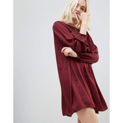 【残り1点!】【サイズ:M】ヘイゼル Hazel レディース ワンピース・ドレス ワンピース Long Sleeved Lace Yolk Shift Dress