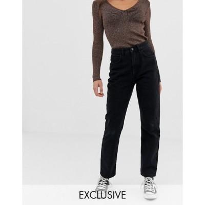 リクレイム ヴィンテージ レディース デニムパンツ ボトムス Reclaimed Vintage The '91 mom jean in washed black