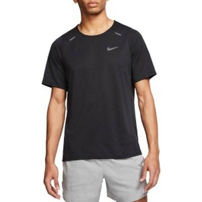 ナイキ メンズ シャツ トップス Nike Men's Rise 365 Running T-Shirt Black/Reflective Silv