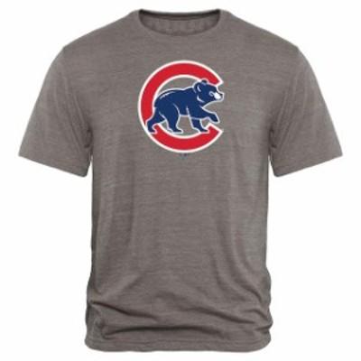 Fanatics Branded ファナティクス ブランド スポーツ用品  Chicago Cubs Heathered Gray Rally Primary Logo Tri-Blend T-Shirt