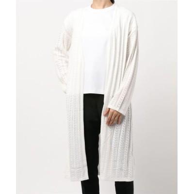 MEW'S REFINED CLOTHES / アイレットロングカーディガン WOMEN トップス > カーディガン