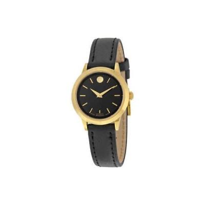 腕時計 モバード Movado 1881 Automatic Black Dial Gold PVD Ladies Watch 0606925